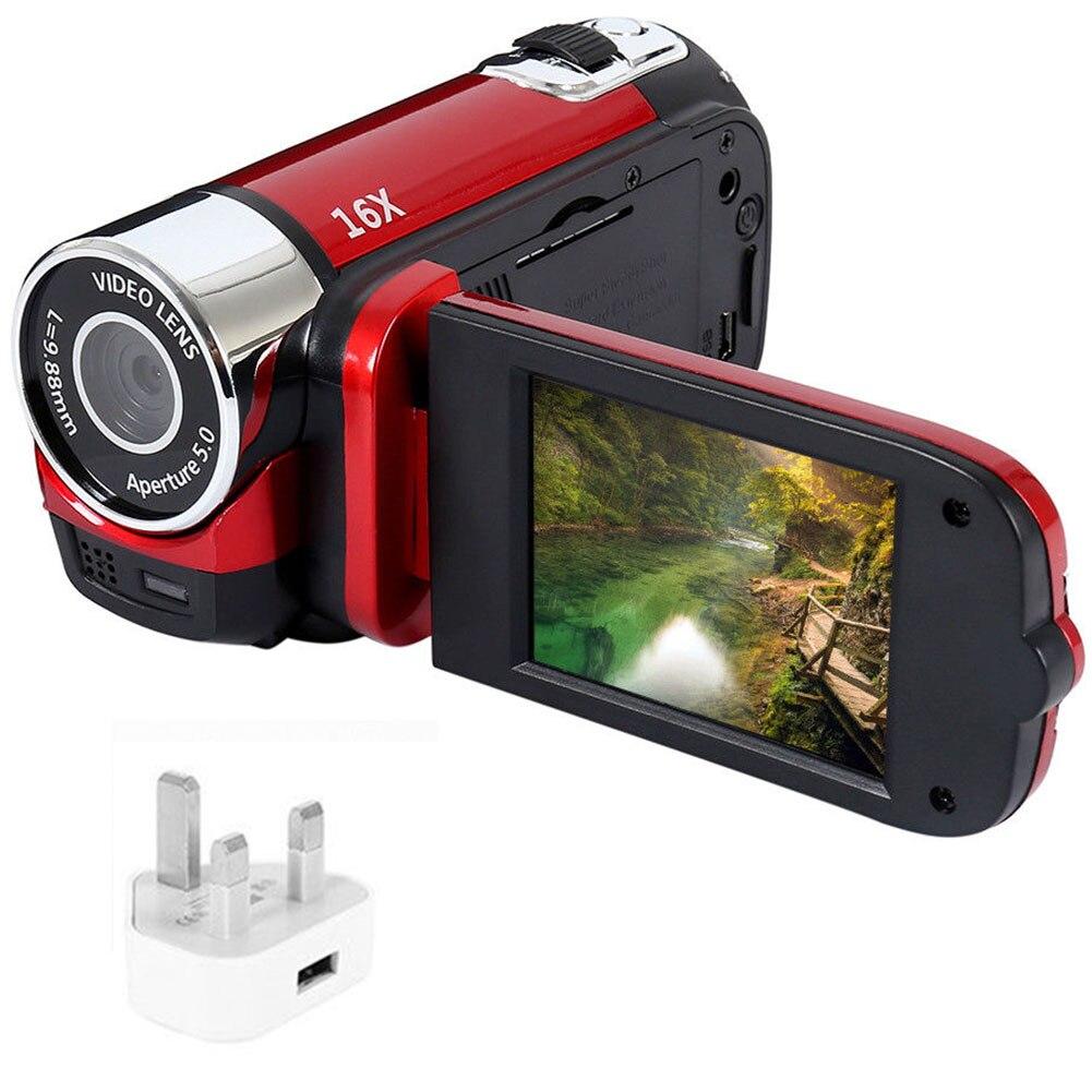 Câmera digital 1080 p gravação de vídeo visão noturna clara anti-shake led luz cronometrado selfie filmadora profissional alta definição