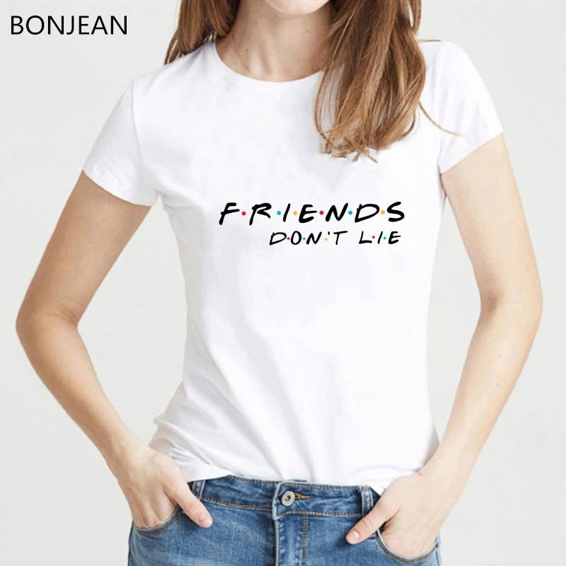 Vogue FRIENDS Letter printed tshirt women Ulzzang Harajuku shirt summer top female Best Friends Tv t shirt BFF t shirt femme tee in T Shirts from Women 39 s Clothing