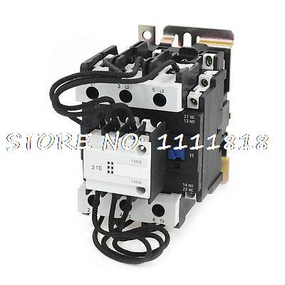 DIN Rail Mounting 3P 2NO 1NC 220V Coil Changeover Capacitor Contactor CJ19-80 220v 50 60hz coil voltage 3p 2no 1nc changeover capacitor ac contactor cj19 63