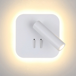 Image 2 - נורדי LED קיר מנורה עם מתג 3W spotligh 6W תאורה אחורית משלוח סיבוב פמוט מקורה קיר אור לבית הלילה בחדר שינה