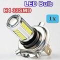 1 x 5630 33SMD H4 LED Bulbs 6000K Super White with LENS Car Headlights Auto Lamp 12V 4W