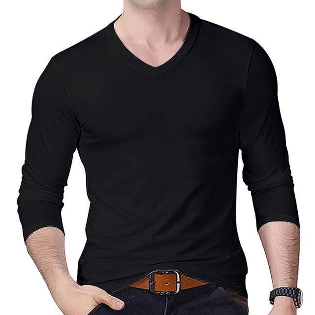 Online Shop 2018 Man's op neck designer Long-sleeve t shirts slim ...