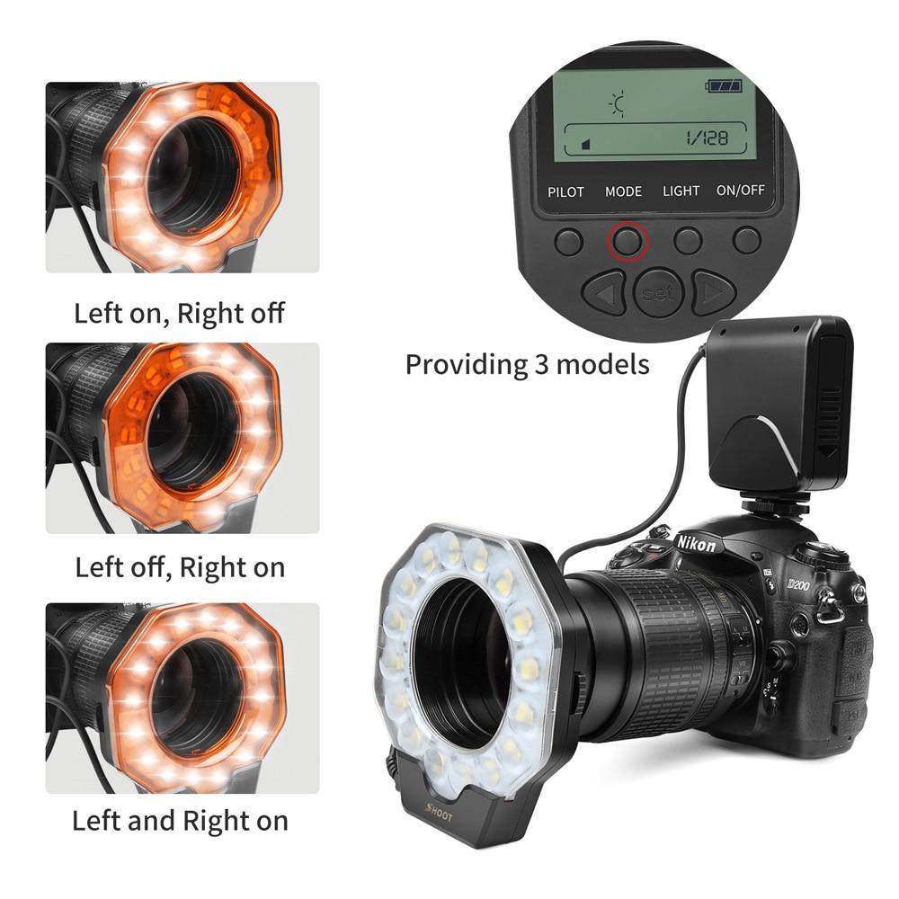 SHOOT Macro LED Ring Flash Light for Nikon D5300 D5100 D3400 D3100 D7200  Canon 1300D 6D Olympus e420 Pentax K5 K50 Dslr Camera-in Flashes from  Consumer ...