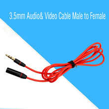 Earphone Extension Cable 3.5mm Audio& Video Cable Male to Female Headphone Extended Cord Lengthen Line to Laptop PC Phone