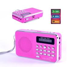 Portable HiFi Card Speaker Digital Multimedia Loudspeaker Portable Rechargable FM Radio MP3 Audio Music Player