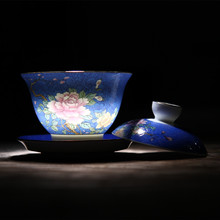 Chinese Style Handpainted Gaiwan High Quality Ceramic  Teapot Kettle Kung Fu Tea Sets Of Cups Vintage Bowl Chinaware