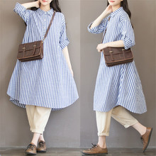 Maternity Clothes T shirt Dress For Pregnant Women Dress Long Sleeve Striped Nursing Dress For Pregnancy