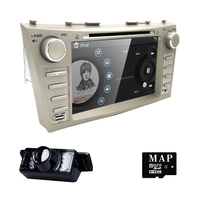car dvd fit 8Toyota Camry 2007 2011 Memory Card Input,Motorized Display,MP3 Player,Steering Wheel Control,Touchscreen,TV Tuner
