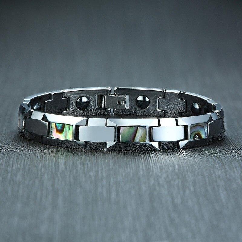 Bracelets magnétiques Bio énergétiques élégants pour hommes, chaîne à maillons en carbure de tungstène, pulsera masculina, cadeaux parfaits pour lui