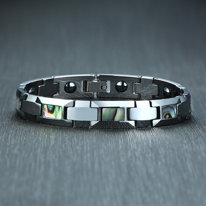 Mens Stylish Bio Energy Magnetic Bracelets Healthy Tungsten Carbide Link Chain pulsera masculina Perfect Gifts for Him