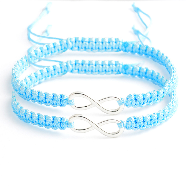 bracelet de couple distance bleu