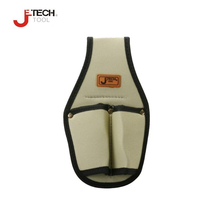 """""""Jetech"""" mažo drobės audinio elektriko įrankis juosmens maišelis mini darbo organizatoriaus įrankių laikiklis 2 kišenės atsuktuvo veržliarakčiui ir kt."""
