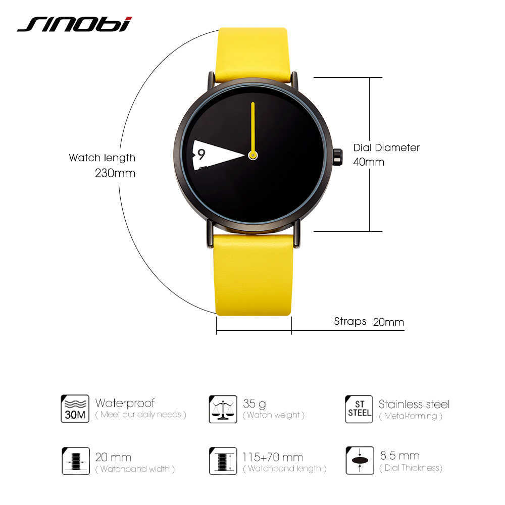 Sinobi женские часы, креативные наручные часы, женские часы, вращающиеся, желтые, кожаный ремешок, наручные часы, часы Montres Femme Reloj Mujer