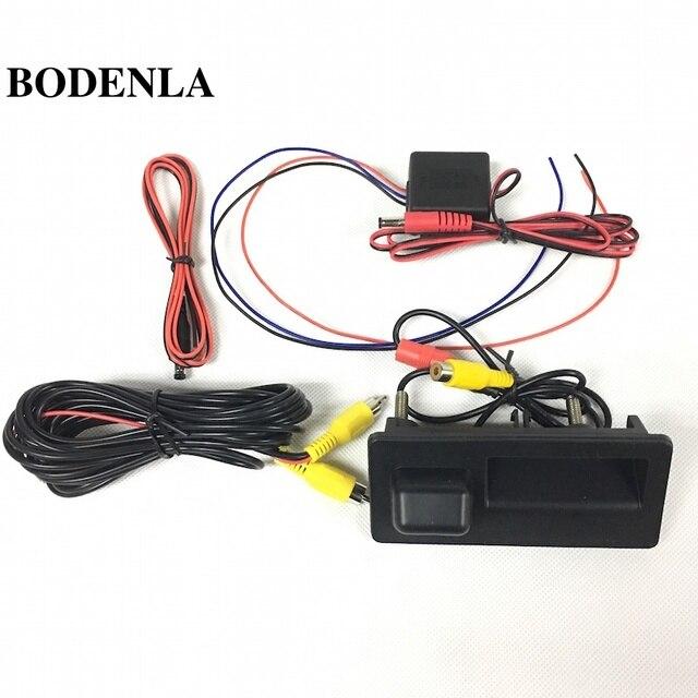 BODENLA AV Rearview Camera Reverse With Time Relay RCD330 Plus RCD330G For VW Tiguan Jetta MK6