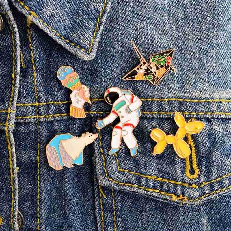 Urijk падение броши, расписанные маслом мультфильм костюм сплав значок для одежды куртка ювелирные изделия 2018 Новый Гавайский милый горшок для кактуса Декор