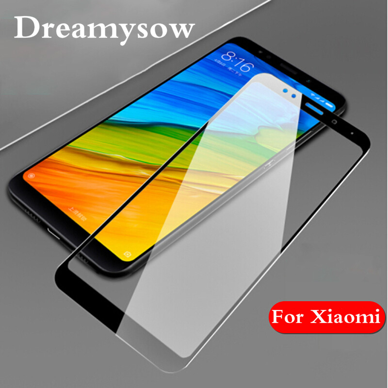For Xiaomi Mix 2s Mi 6 A1 5 5X Mi6 Mi5 S Mi5s Plus Mi5x Redmi 5Plus Note 5A Note 5Pro Full Cover Screen Protector Tempered Glass
