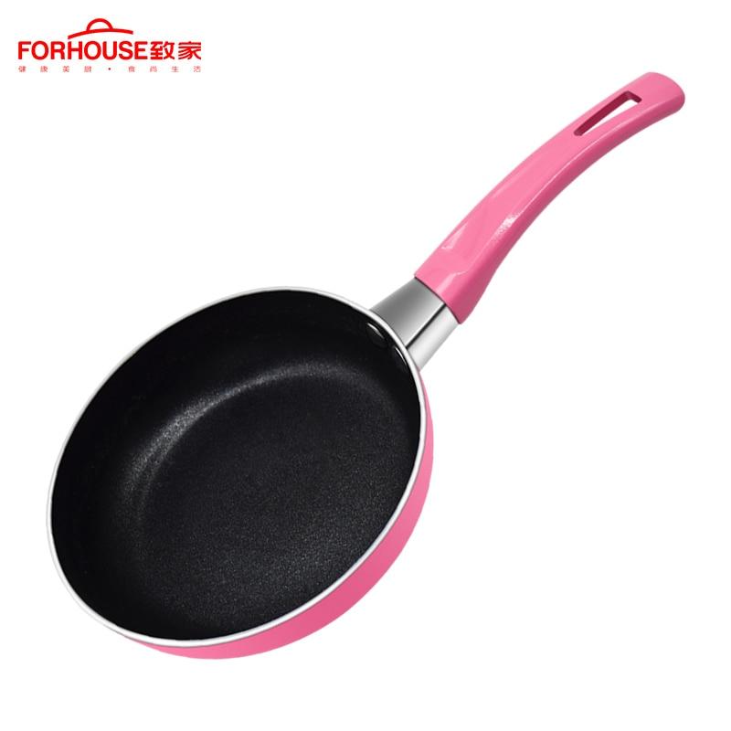 5.5inch Mini frying Cooking Pan Non-stick Coating Pancake Baking Pot Aluminum Alloy Fried Egg Wok Cake Pan