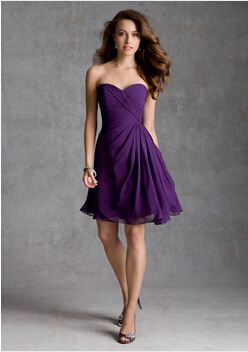 Popular Strapless Purple Cocktail Dress-Buy Cheap Strapless Purple ...