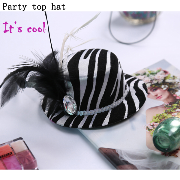Party decoration novelty mini top hat of wedding favor bride gift bridesmaid invitation fir women dress in hen party