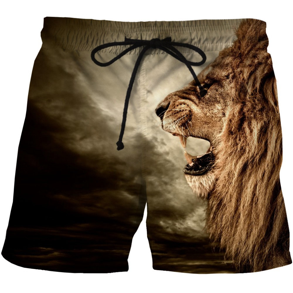 LOVE SPARK 2017 New Plus Size Mens Running Shorts 3D Lion Printing Summer Jogging Shorts M To 6XL With 2 Pockets ...