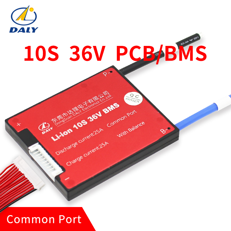 3,6 V/3,7 V celular 10 s 36 V 10A/25A/35A/45A/60A BMS utilizado para 36 V 10ah 35ah 60ah batería 60A continua con la función del balance BMS