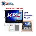 Caliente Calificación K TAG ECU KTAG Programador V2.13 Hardware V6.070 No K TAG Tokens Limitación 2.13 Maestro Versión Viruta DEL ECU Herramienta de Adaptación de la
