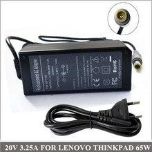 20 В 3.25a 65 Вт ноутбука Зарядное устройство адаптер переменного тока для portatiles ordenadores Lenovo IBM ThinkPad E30 E40 E50 X201t X220i x220s x220t