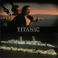 Titanic Model Figure Lost Wrecked Boat Ship Aquarium Decoration Fish Tank Sunk Boat Shipwreck Ornament Cave for Fish Shrimp