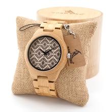BOBO de AVES Naturalmente Hipoalergénico Minimalismo Simplicidad Relojes Con Toda la Madera De Bambú De Madera De Bambú de Lujo Correas