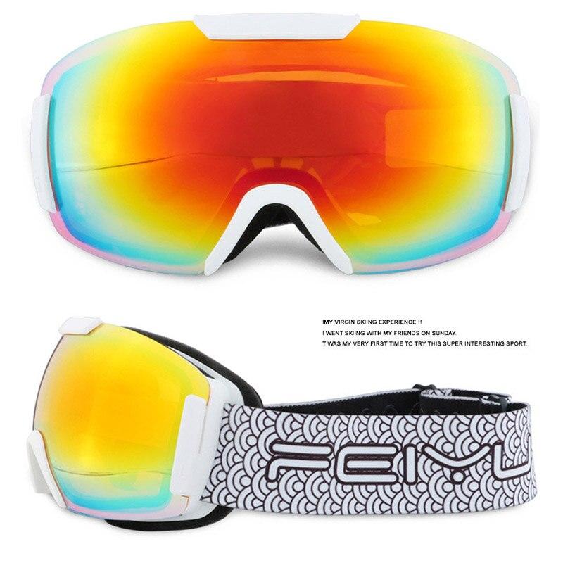 Double couches ski lunettes UV400 anti-brouillard grande cagoule tpu lunettes ski homme femme neige snowboard lunettes