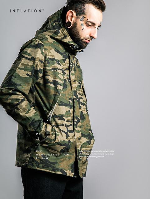 Roupas masculinas | 2016 roupa outono novo xadrez jaqueta camuflada dos homens à prova d' água à prova de vento com capuz casaco revestimento de poeira