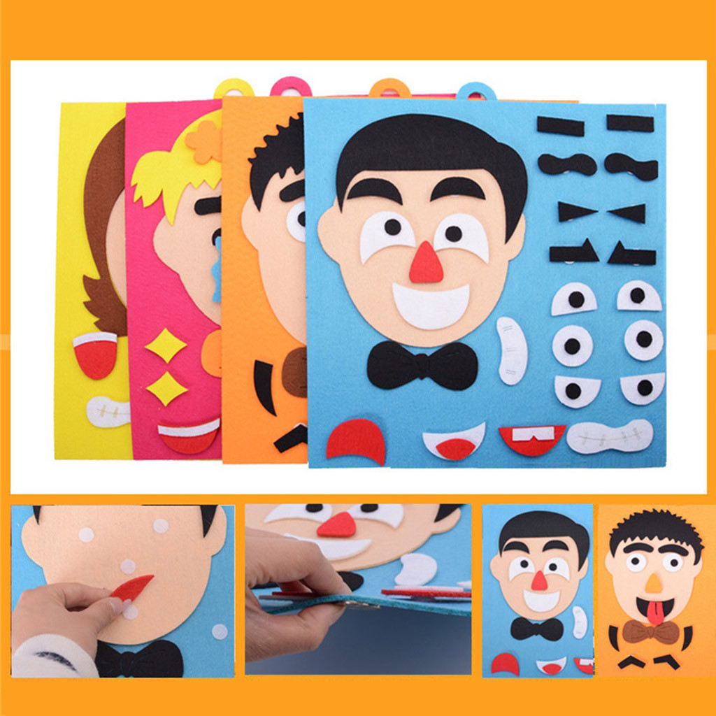 Fun Children Early Education Facial Expression Puzzle Educational Toys for Kids