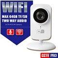 Mini câmera ip wi-fi hd 720 p 1.0mp cctv monitor do bebê sem fio câmera de segurança câmeras de vigilância remoto iphone ver android