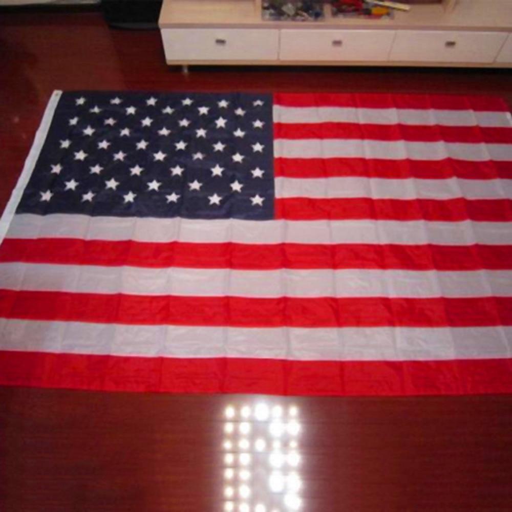 b85d1d6b3218 1pcs New Arrival Jumbo 3 x5  American Flag USA US FT Polyester Be ...