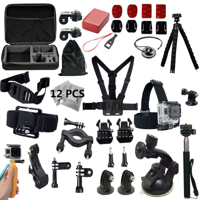 Gopro Accessories Gopro hero4 kit mount For Gopro Hero 5 4 session 3+ SJ4000 SJ5000 sj7000 xiaomi yi 2 4K Gitup Sony Action Cam