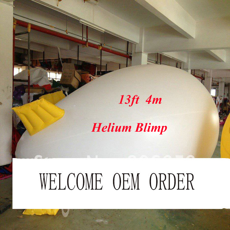 13ft LENTH Inflatable Advertising Helium Blimp/ Airship/ Zeppeline for Events/ Exhibition/ Solid color ao058b 2m white pvc helium balioon inflatable sphere sky balloon for sale attractive inflatable funny helium printing air ball