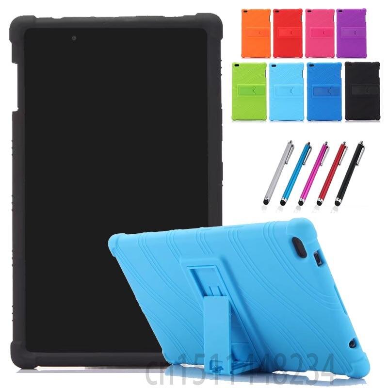 Для Lenovo Tab 4, 8 TB-8504 TB-8504 n/X/F Tablet чехол, новый утолщение Противоударный задняя крышка ребенок силиконовый чехол tab4