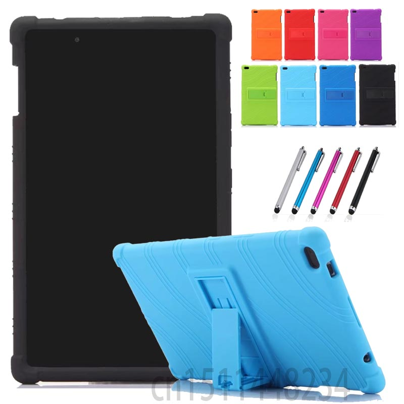 AORUIIKA for Lenovo TAB 4 8 TB-8504 TB-8504 N/X/F Tablet case cover, Thickening Shockproof Back cover child Silicone Stand case стоимость