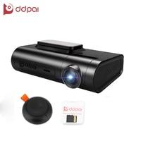 DDPai X2 Pro Видеорегистраторы для автомобилей тире Камера Cam Регистраторы 1440 P Ultra HD спереди и сзади Двойной объектив gps Запись Беспроводной сним