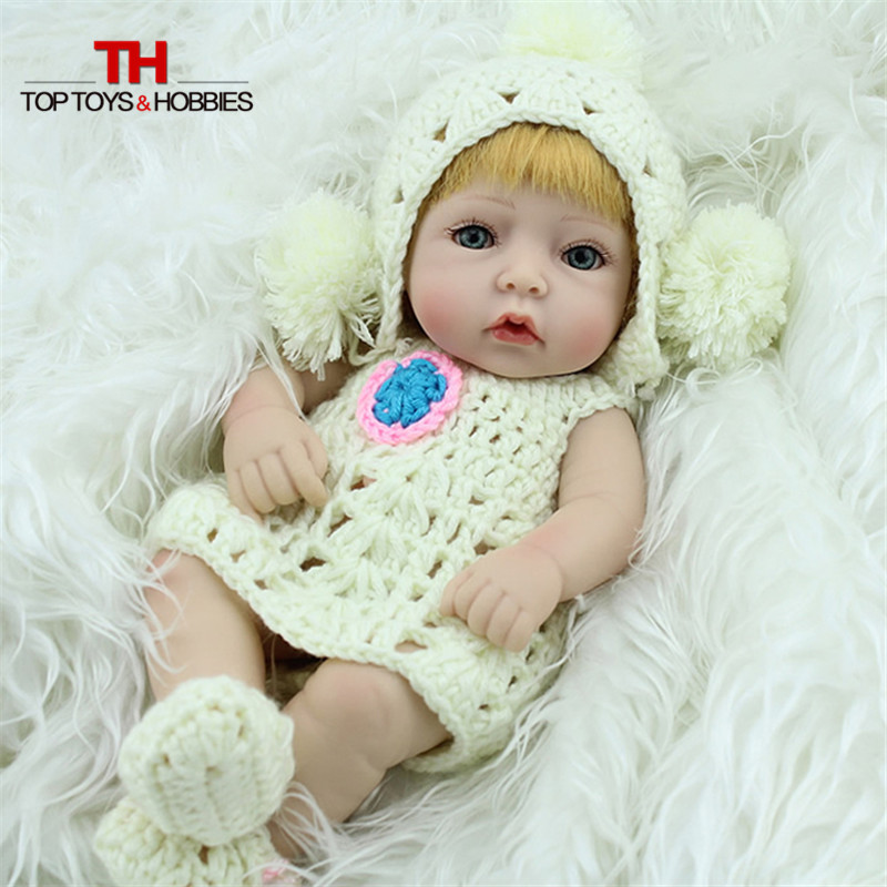 Realistic Baby Doll Girl Baby Reborn Dolls Full body Silicone Lifelike Baby Dolls for Children Gift short curl hair lifelike reborn toddler dolls with 20inch baby doll clothes hot welcome lifelike baby dolls for children as gift