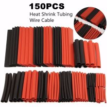 Hot New 150Pcs Red and Back 8 Size 2:1 Polyolefin Heat Shrink Tubing Tube Sleeving Wire Kit for 2/2.5/3.5/5/6/8/10/13mm