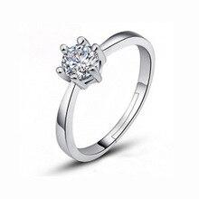Fabricante al por mayor anillo de oro seis garra Austria circón cristal regalo Navidad para mujeres anillos d