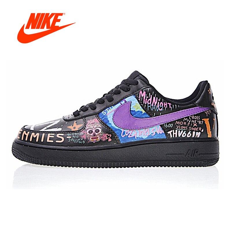 Original Nouvelle Arrivée Authentique Nike Air Force 1 Faible Hommes Chaussures de Marche de Sport En Plein Air Sneakers Bonne Qualité 923092- 100
