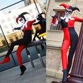 Disfraces de halloween mujeres monos ocasionales de Caña Alta payaso Batman Arkham Asylum Harley Quinn Cosplay Carnaval de Disfraces sexy