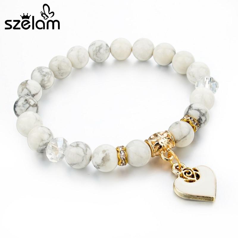 Szelam Bijoux καφέ φυσικό βραχιόλι πέτρα - Κοσμήματα μόδας - Φωτογραφία 4