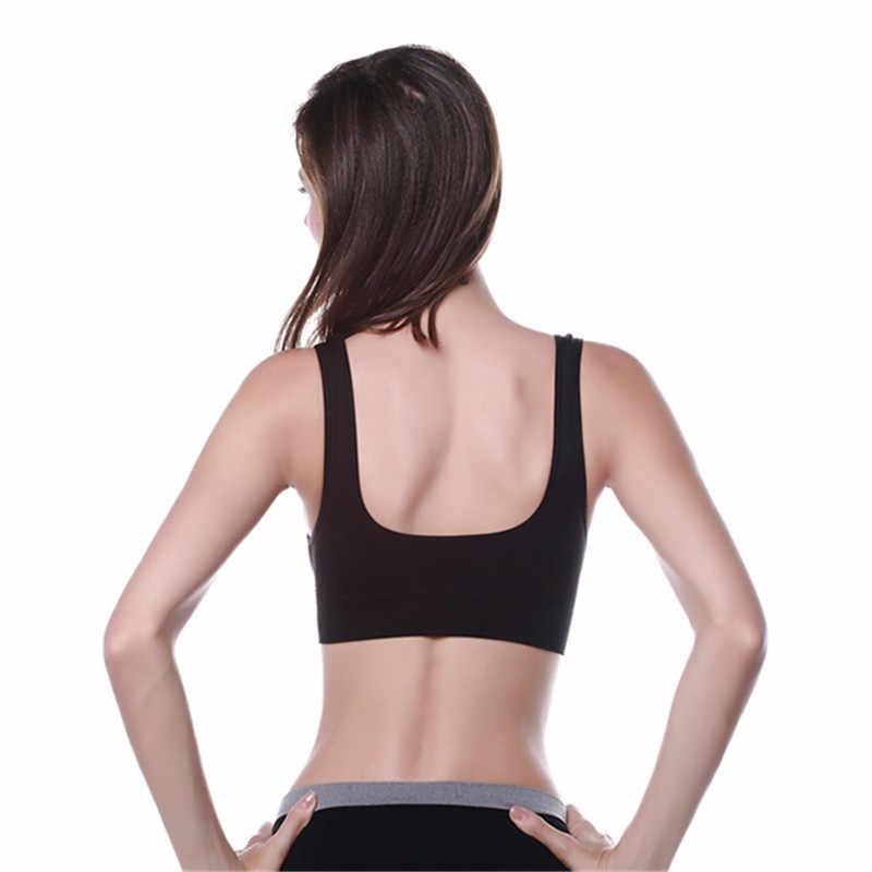 Wanita Ladies Peregangan Rompi Slim Bra Atasan Celana Dalam Seamless Kasual Push Up Korset Bra Ukuran M-XL