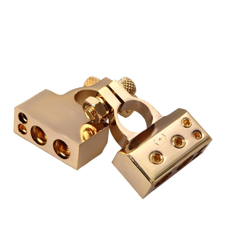 Image 4 - LUNDA Gold plated Car Battery Terminal Positive /negative  Car battery Connector Battery Caps Terminal Connector-in Car Batteries from Automobiles & Motorcycles