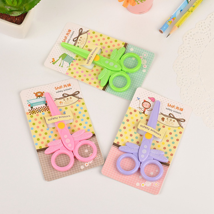 New Cartoon Safety Paper Cutting Plastic Scissors Learning