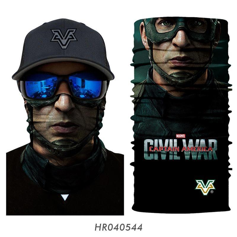 Wholesale Magic Headband Face Mask Superhero Cosplay Marvel Seamless Bandana Tubular Headwear Halloween Snowboard Ski Balaclava