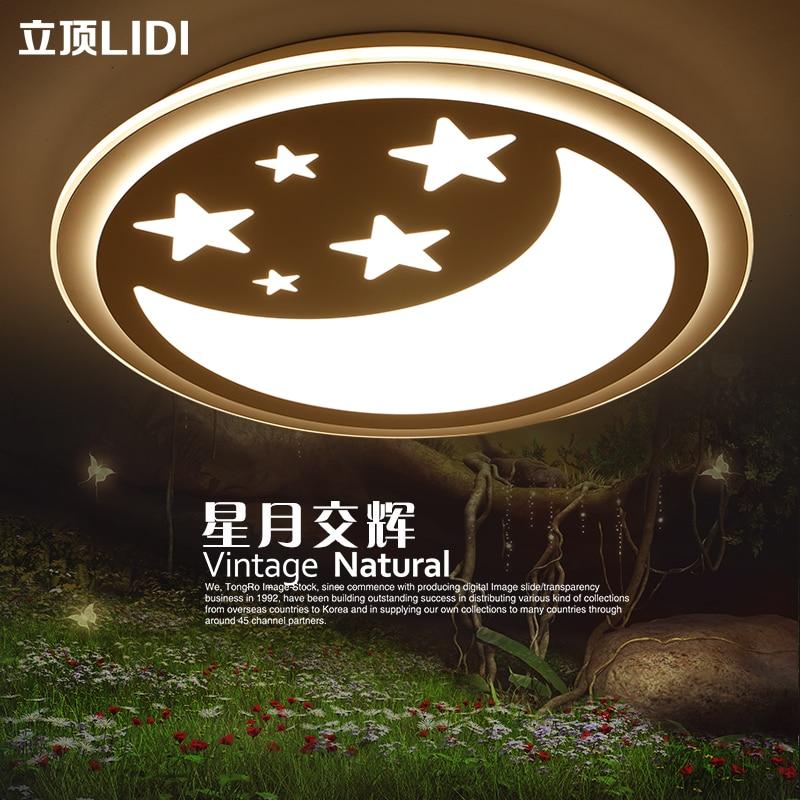 Childrens room light romantic LED lamps and lanterns star moon lovely little girl boy bedroom ceiling lamp